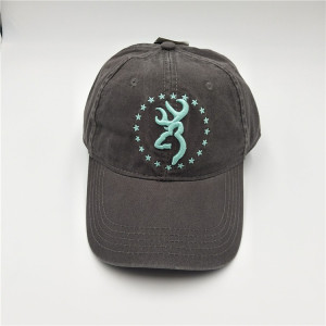 China cap factory washed classic baseball cap and hat with 3D embroidery