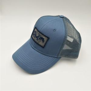 custom mesh trucker cap with embroidery badge