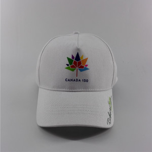 custom 5 panel baseball cap with  Canada colorful maple leaf in China