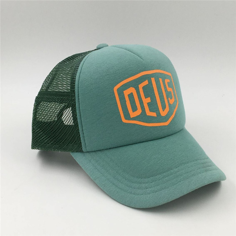 3e5e0b546 wholesale custom summer sand beach 5 panel cyanine mesh trucker hat ...