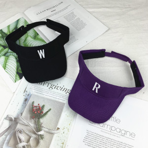 wholesale customized 100% cotton sun visor hat and cap with embroidered logo
