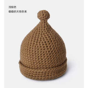 wholesale colorful new design cute knitted beanie  winter hat with one pom
