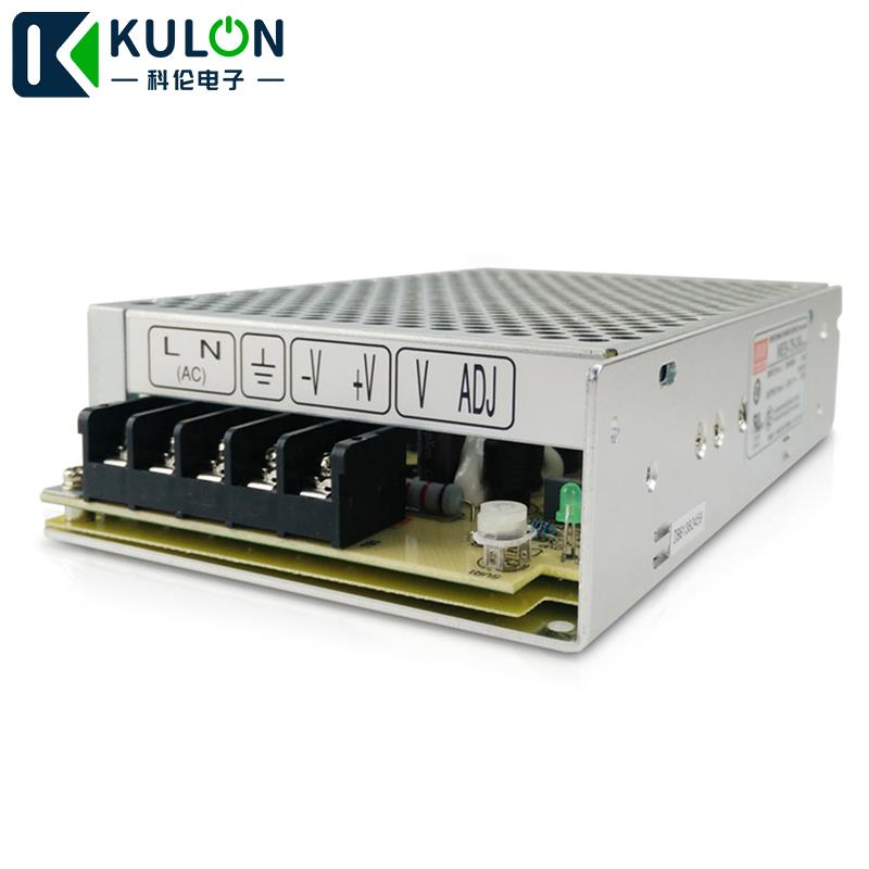Enclosed Type 76.8W 24V 3.2A NES-75-24 Meanwell AC-DC Single Output NES-75 Series MEAN WELL Switching Power Supply