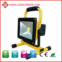 Hot!! CE/ROHS High Power 20W rechargeable led floodlight , AC/DC adapter, 12V car plug charger include