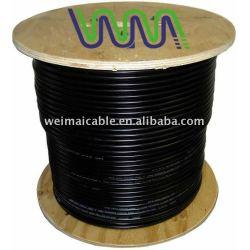 جودة عالية اقناع الكابل (RG58 RG59 RG6 RG11 RG7 RG213) للحصول على تلفزيون الكابل البلاستيكية المصنوعة في الصين 5595