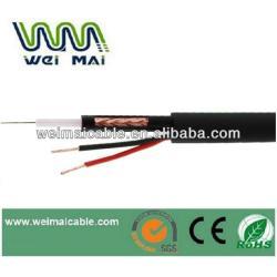 Exterior CCTV Cable Coaxial rg59 + 2DC siameses Coaxial Cable CCTV Cable de alimentación WMM3448