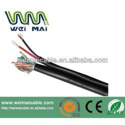 Exterior CCTV Cable Coaxial rg59 + 2DC siameses Coaxial Cable CCTV Cable de alimentación WMM3539