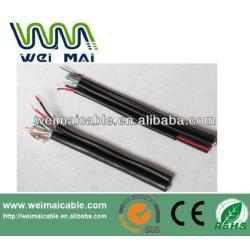 Exterior CCTV Cable Coaxial rg59 + 2DC siameses Coaxial Cable CCTV Cable de alimentación WMM3537