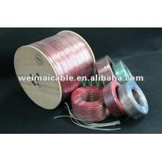 Negro y rojo o Cable de altavoz transparente WM00443Dhigh end Cable de altavoz