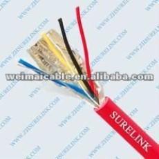 Alarma de seguridad Cable 4 * 0.22mm2 Nnshielded WM0420D