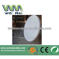 Montaje en poste C y Ku banda de la antena parabólica WMV021461