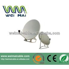 Montaje en poste C y Ku banda de la antena parabólica WMV021466