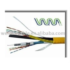Dos RG6 TRI + dos UTP CAT5e Cable de la computadora