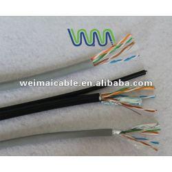 تقدم ce 0.56mm النحاس النقي cat6 wm0102d utp كابل الشبكة المحلية