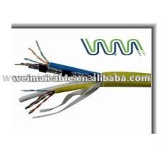 Baja emisión de humos cero halógeno Cat7 cable Lan WM0156M