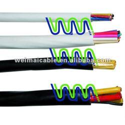 Aceite resistente al con aislamiento de PVC y Unscreened Flexible Cable RVV WM0115D