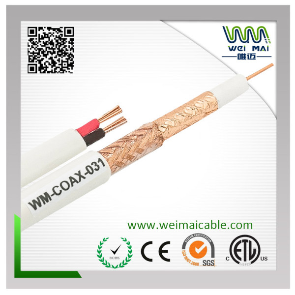 Coaxial Cable RG59 2DC with Power Cable