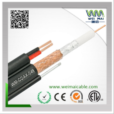 коаксиальный кабель RG59+2DC 98.5% плетение 75ohm китай производителя, поставщика