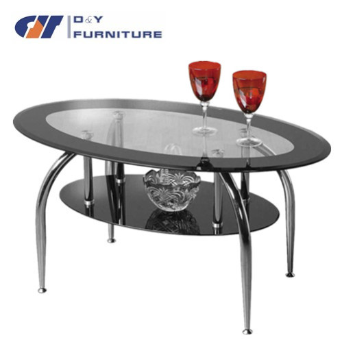 Table basse de salon ovale en verre - Table salon cdiscount ...