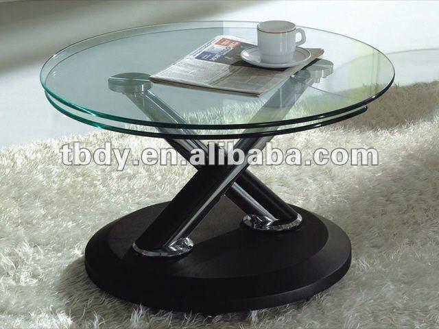 revolving glass coffee table