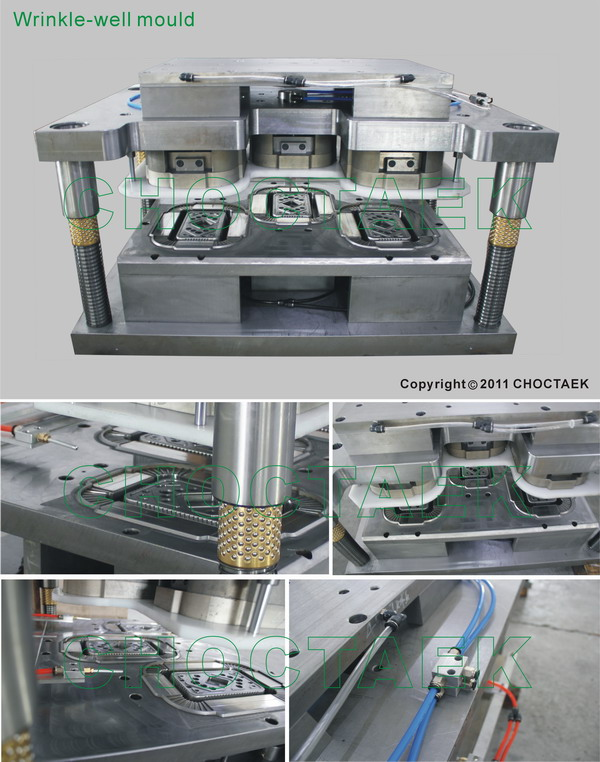 Wringkle-wall Aluminium foil container mould