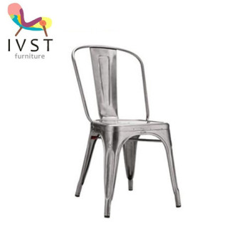 hot sale outdoor furniture colorful iron spaying metal tolix chair