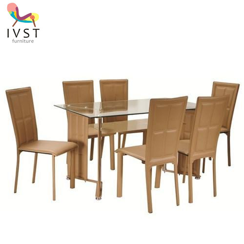 Dinette Sets Cheap: Glass Dining Set Brown Color Dining Sets Cheap Dining Set