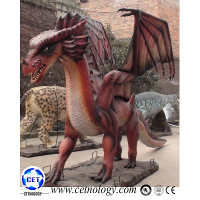 Park Mechanical Dragon Walking Kid Ride