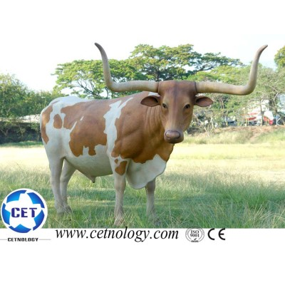 Life size animated cattle/cow for the park