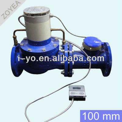 100mm de gran diámetro de prepago medidor de agua