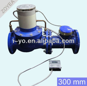 de gran tamaño de prepago medidor de agua 300mm