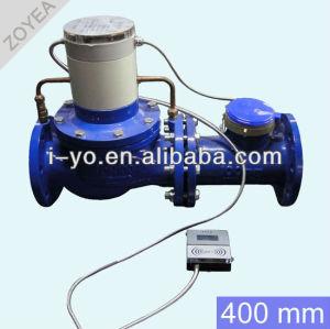 de gran calibre de prepago medidor de agua 400mm
