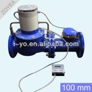 de gran calibre de prepago medidor de agua 100mm