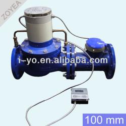 大きな口径のプリペイド水道メーター100mm