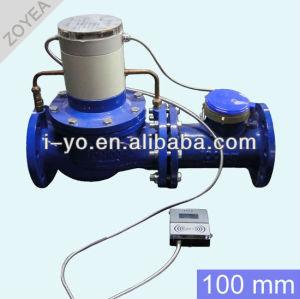 100mm de gran calibre de prepago medidor de agua