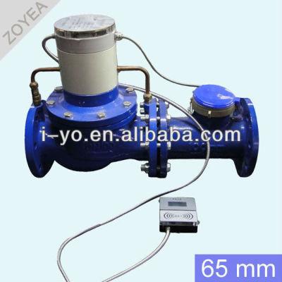 de gran calibre de prepago medidor de agua 65mm