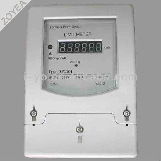 de energía solar medidor de límite