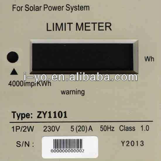 الحد من الطاقة الشمسية zy1101 الطاقة متر