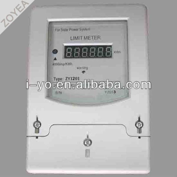 L'énergie solaire zy1201 limite compteur d'énergie