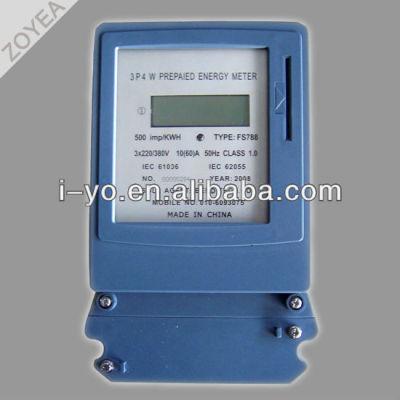 3p 4w prepago medidor de electricidad