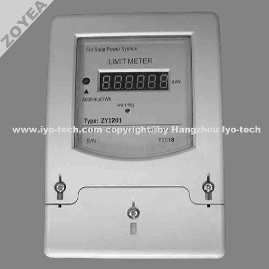 ZY1201 SOLAR POWER LIMITING ENERGY METER / LIMIT METER / ENERGY LIMITER
