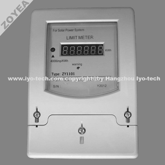 ZY1101 SOLAR POWER LIMITING ENERGY METER / LIMIT METER / ENERGY LIMITER