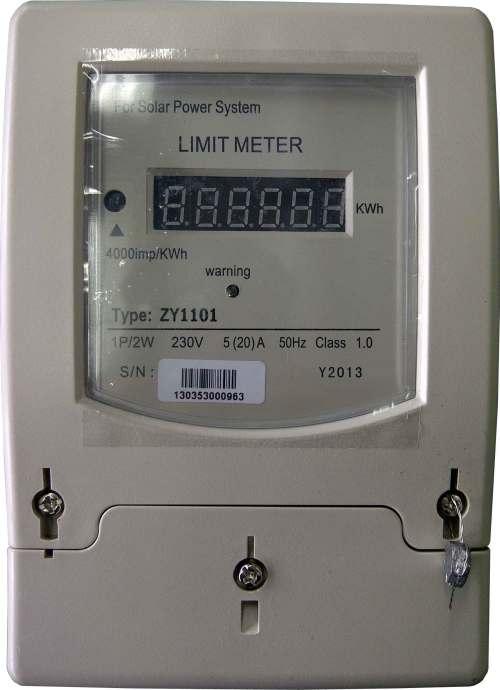 Limitador de energía para energía solar, eólica o híbrida