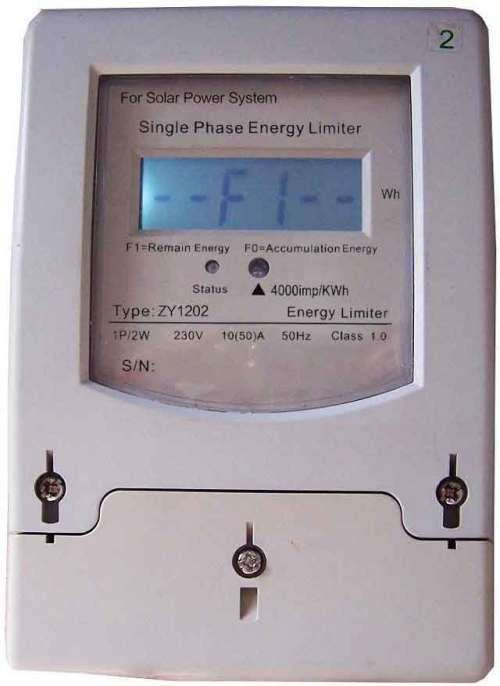 Limitador de energía preciso para energía solar, eólica o híbrida
