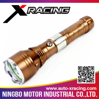 XRACING Aluminum alloy best selling dynamo led flashlight with high quality