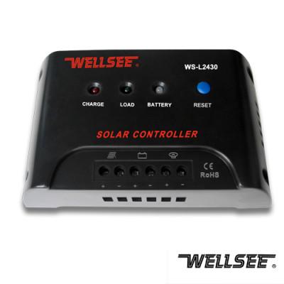 WELLSEE WS-L2430 30A 12/24V solar street light controller