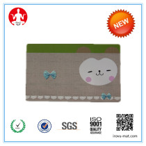 Super Soft Cartoon Imitation cotton flanne  floor mat