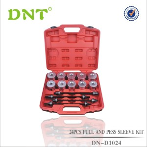 24Pc Puller And Press Sleeve Kit With 4 Spindles