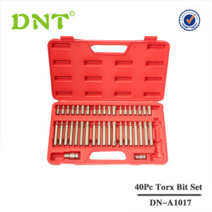 40Pc Torx Star Spline Hex Socket Bit Set