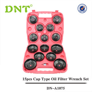 15Pc Cap Oil Filter Wrench Set